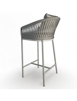 collection-3d-de-mobilier-tresse-bitta-canape-3places-tabouretbar-dossier-filaire
