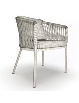 garden-chair-bitta-kettal-3d-wireframe