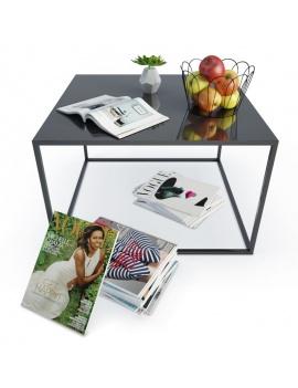 table-basse-metallique-et-accessoires-deco-3d