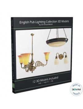collection-de-luminaires-antiques-3d