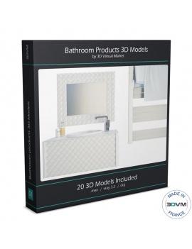 collection-mobilier-et-accessoires-salle-de-bain-3d