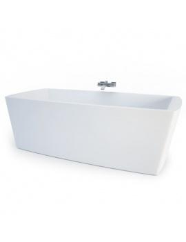 collection-mobilier-et-accessoires-salle-de-bain-3d-baignoire-concept
