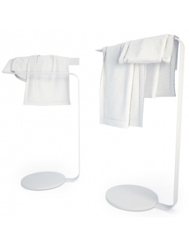 bathroom-furniture-and-accessories-3d-concept-towel-holder
