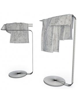 collection-mobilier-et-accessoires-salle-de-bain-3d-porte-serviettes-concept-filaire