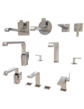 collection-mobilier-et-accessoires-salle-de-bain-3d-mitigeurs-faucet