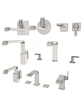 collection-mobilier-et-accessoires-salle-de-bain-3d-mitigeurs-faucet-filaire