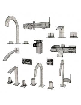 collection-mobilier-et-accessoires-salle-de-bain-3d-mitigeurs-imagine-giro-filaire