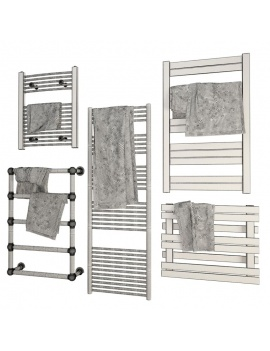 collection-mobilier-et-accessoires-salle-de-bain-3d-radiateur-serviettes-filaire