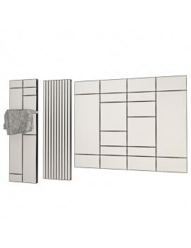 collection-mobilier-et-accessoires-salle-de-bain-3d-radiateurs-filaire