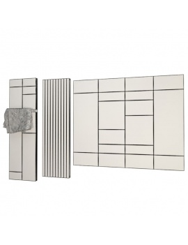 bathroom-furniture-and-accessories-3d-radiators-wireframe