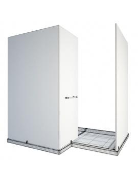 collection-mobilier-et-accessoires-salle-de-bain-3d-cabine-douche-angle-filaire