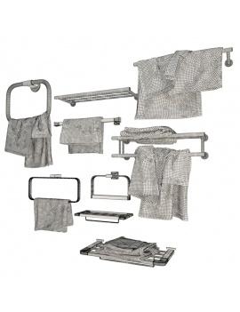 collection-mobilier-et-accessoires-salle-de-bain-3d-porte-serviettes-filaire