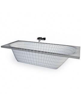 collection-mobilier-et-accessoires-salle-de-bain-3d-baignoire-encastrable-filaire