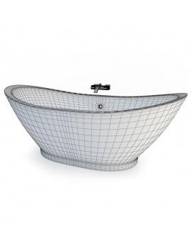 collection-mobilier-et-accessoires-salle-de-bain-3d-baignoire-centrale-filaire