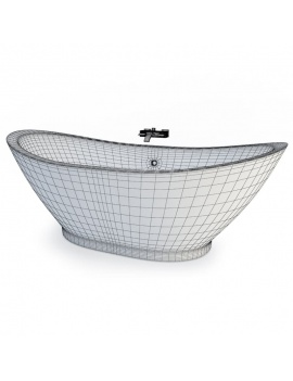 bathroom-furniture-and-accessories-3d-bathtub-wireframe