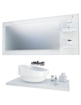collection-mobilier-et-accessoires-salle-de-bain-3d-vasque-miroir