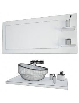 collection-mobilier-et-accessoires-salle-de-bain-3d-vasque-miroir-filaire