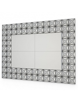 bathroom-furniture-and-accessories-3d-ain-mirror-wireframe
