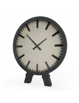 office-space-and-desk-accessories-3d-black-clock