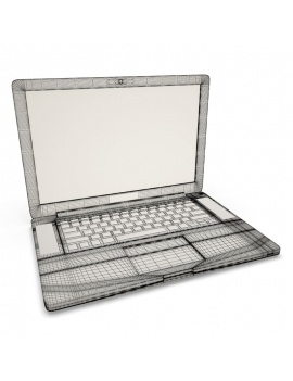 office-space-and-desk-accessories-3d-macbook-computer-wireframe