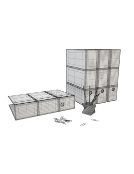 office-space-and-desk-accessories-3d-office-supplies-wireframe