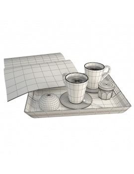 salty-and-sweet-food-collection-3d-models-chocolate-newspaper-coffee-wireframe