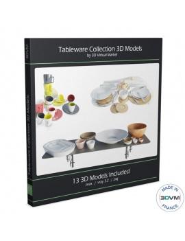 collection-de-vaisselles-et-pots-de-cuisine-3d