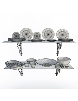 tableware-collection-3d-crockery-365-shelves-wireframe