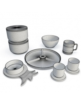 tableware-collection-3d-crockery-nordic-wireframe