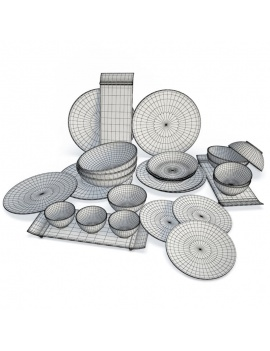 tableware-collection-3d-crockery-modulo-wireframe