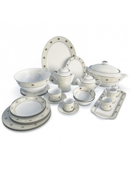 tableware-collection-3d-crockery-platinium