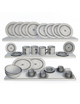 tableware-collection-3d-crockery-romy-wireframe