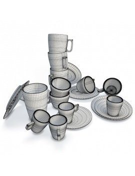tableware-collection-3d-crockery-smoos-wireframe