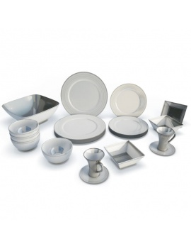 tableware-collection-3d-crockery-white