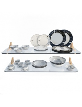 tableware-collection-3d-crockery-white-black
