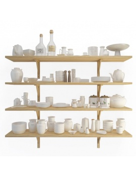tableware-collection-3d-crockery-shelves