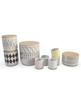 tableware-collection-3d-crockery-cups-boxes