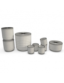 tableware-collection-3d-crockery-cups-boxes-wireframe