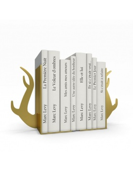 bookends-and-books-collection-3d-deer