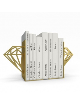 bookends-and-books-collection-3d-diamond