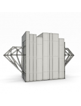 bookends-and-books-collection-3d-diamond-wireframe