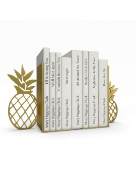 bookends-and-books-collection-3d-pineapple