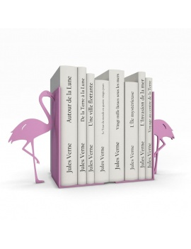 bookends-and-books-collection-3d-pink-flamingo