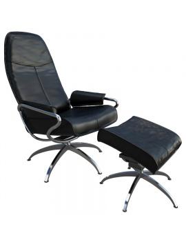 fauteuil-et-repose-pieds-relax-en-cuir-3d