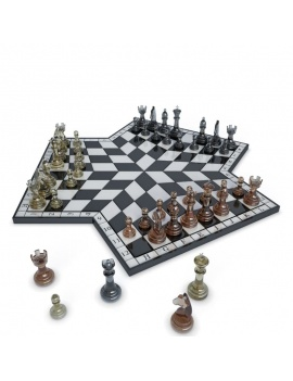 chess-games-2-and-3-players-3d-3-chessboards