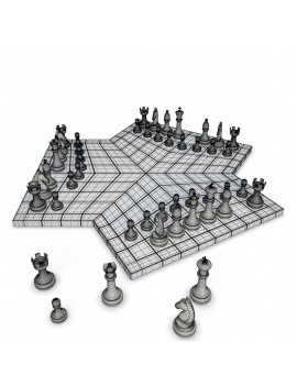 chess-games-2-and-3-players-3d-3-chessboards-wireframe