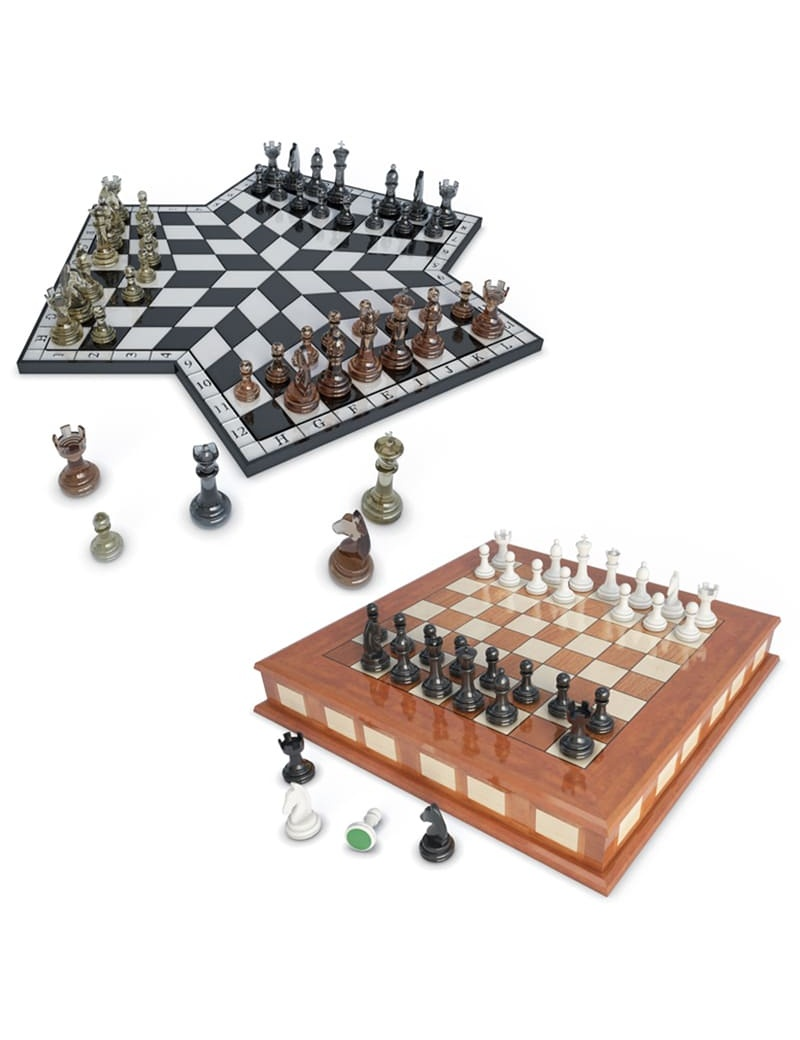 chess-games-2-and-3-players-3d