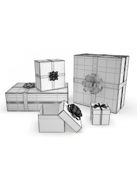 christmas-decoration-3d-gift-wireframe