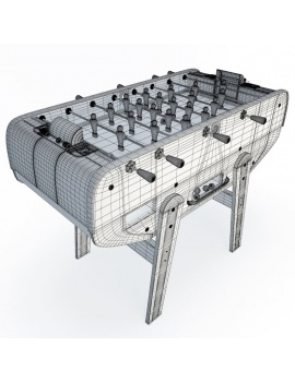 table-football-3d-wireframe