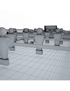 table-football-3d-players-wireframe
